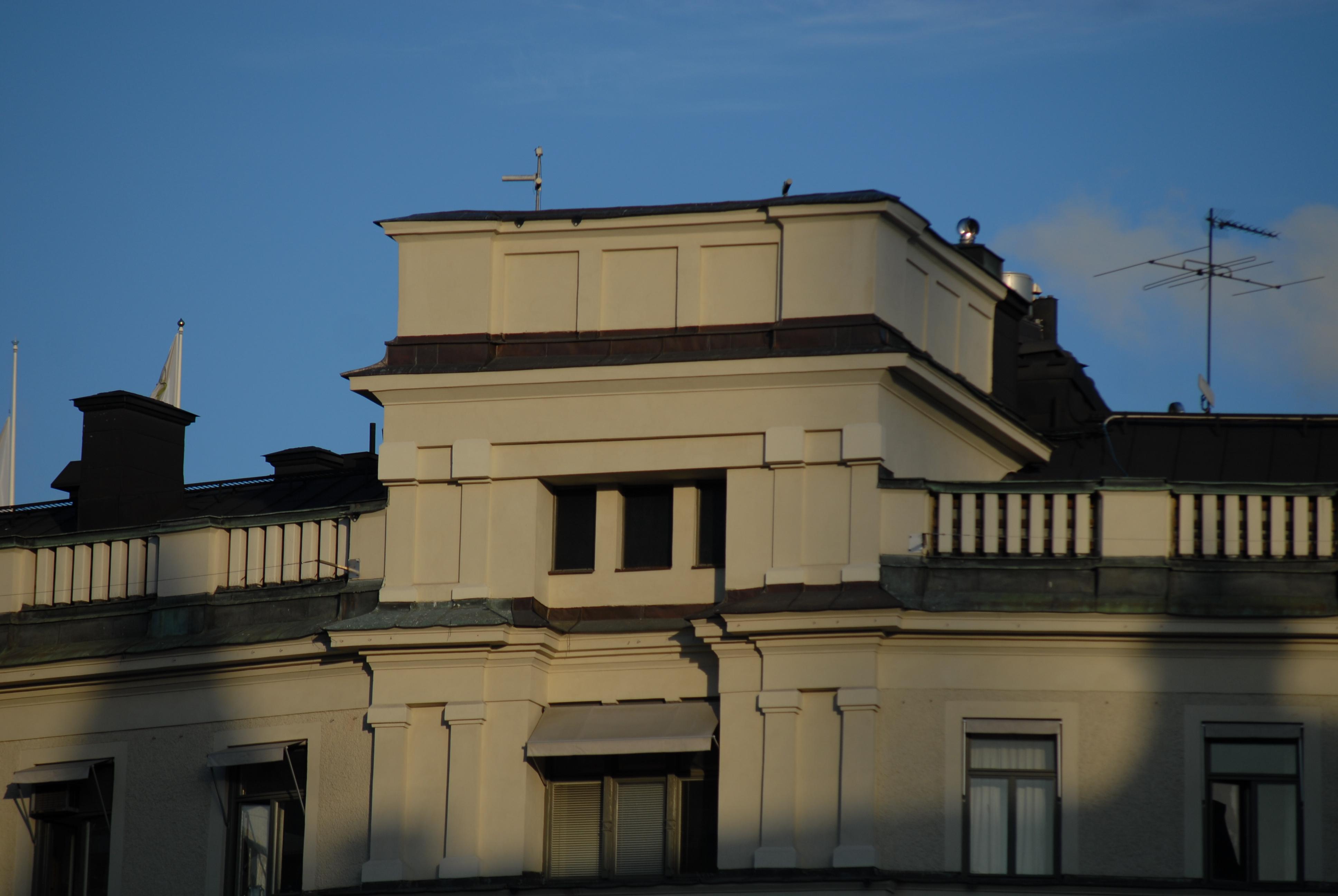 Vit byggnad